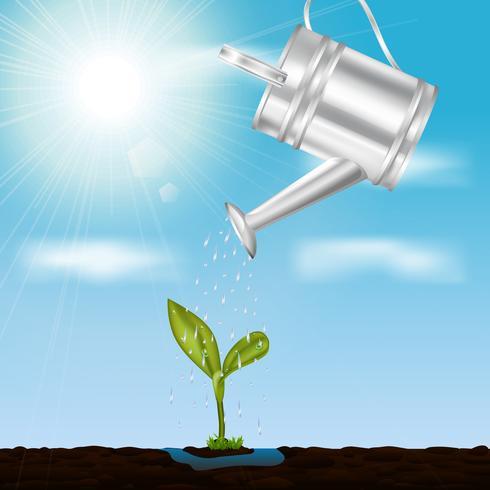 Sprout novo no conceito de projeto da primavera vetor