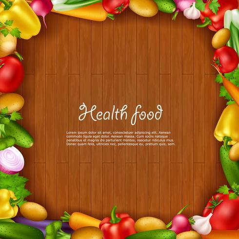 Fundo de comida de saúde vegetal vetor