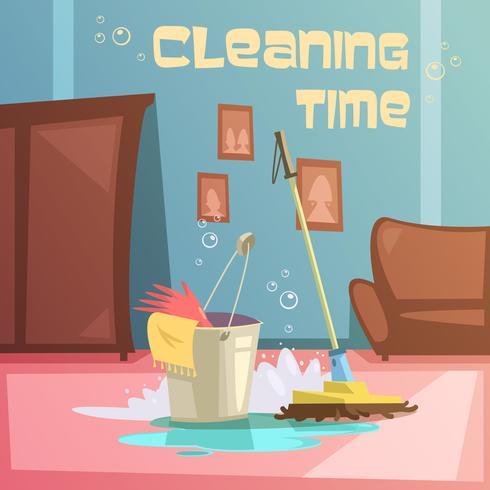 Ilustração de serviço de limpeza vetor