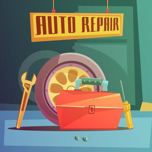 Ilustração de reparação de automóveis vetor