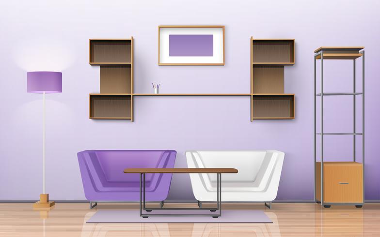 Design isométrico de sala vetor
