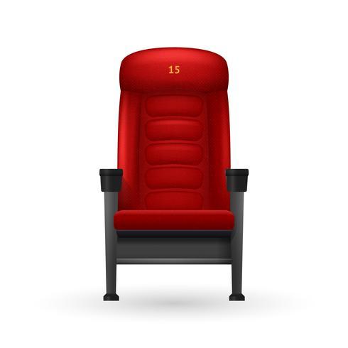 Ilustração de assento de cinema vetor