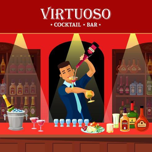Balcão de bar vetor