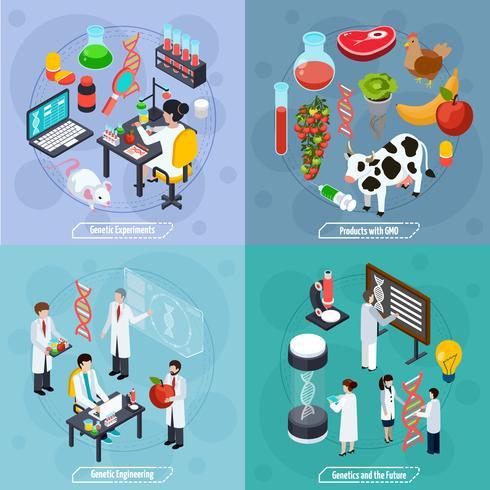 conceito de design de genética 2x2 vetor