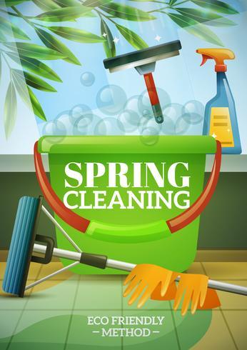 Poster de limpeza de primavera vetor