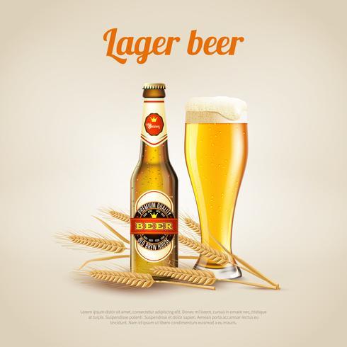 Fundo de cerveja lager vetor