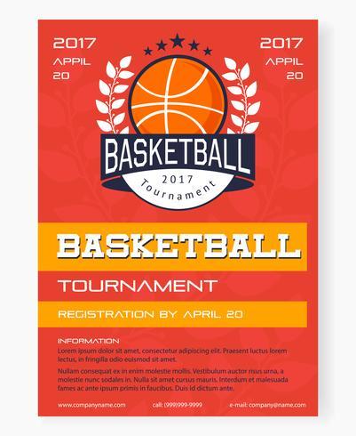 Cartaz do torneio de basquete vetor