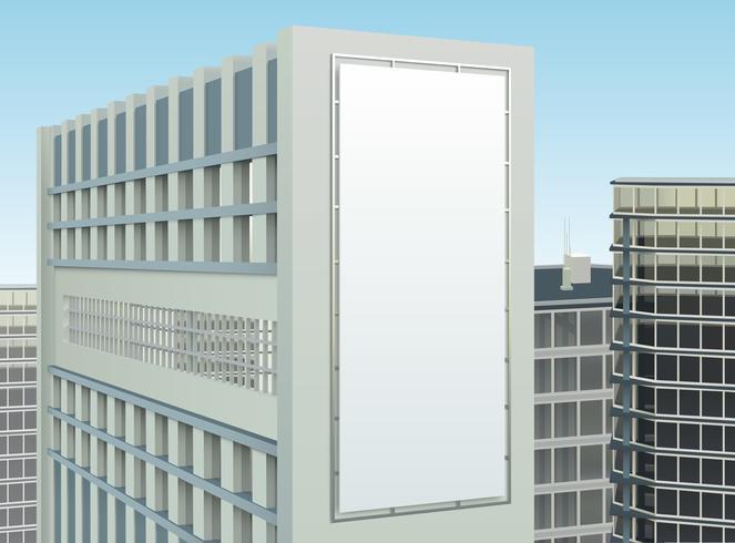Composição de site de publicidade Cityscape edifício vetor