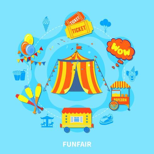 Ilustração em vetor design parque de diversões