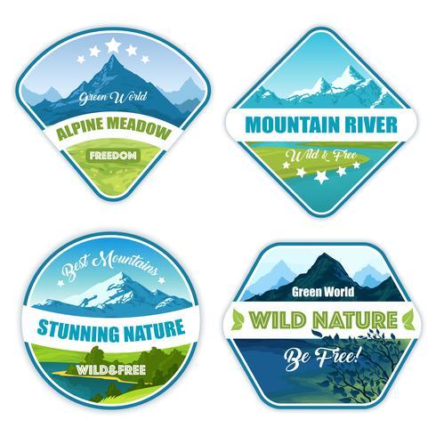 Coleção de logotipo de natureza selvagem vetor