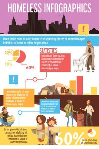 Infographics das pessoas desabrigadas vetor