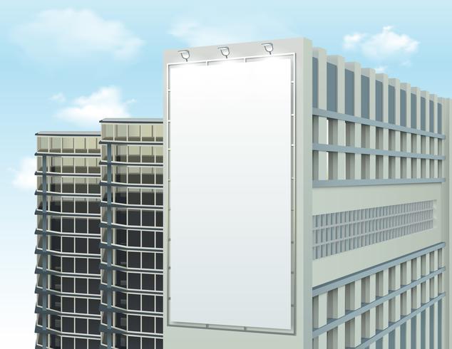 Composição de espaço de anúncio de parede de construção vetor