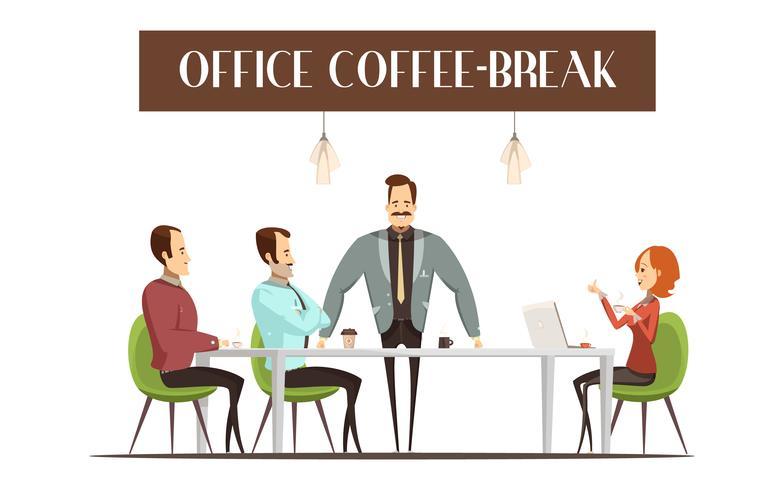 Ilustração de Coffee Break de escritório vetor