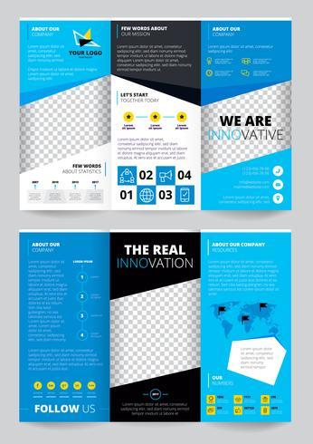 Folheto Trasparent Design vetor
