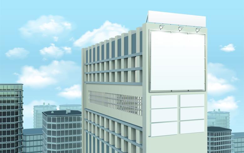 Quadro de avisos na composição da arquitetura da cidade da construção vetor