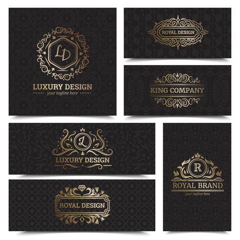 Conjunto de Design de rótulos de produtos de luxo vetor