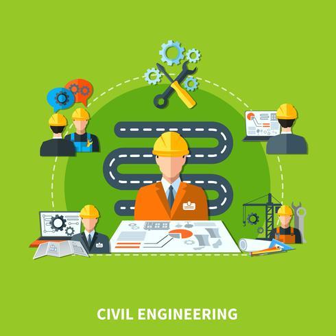 Composição de ícones de desenvolvimento de construção vetor