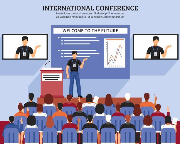 Apresentação Conference Hall Composition vetor