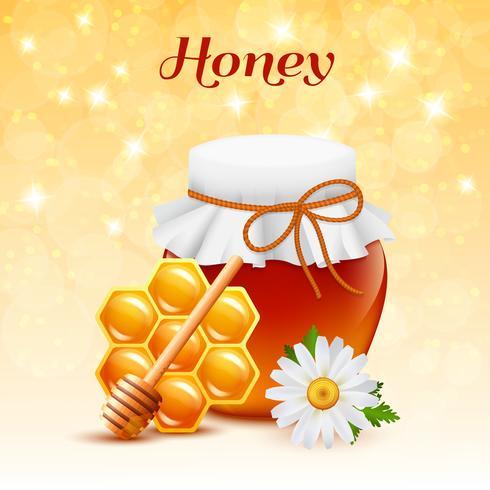 Conceito de cor de mel vetor