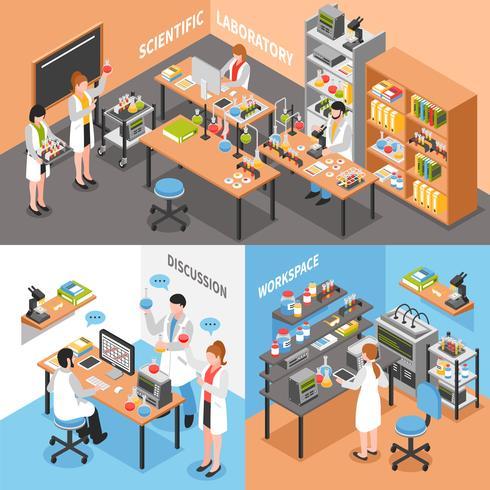 Composição conceitual do laboratório de ciências vetor