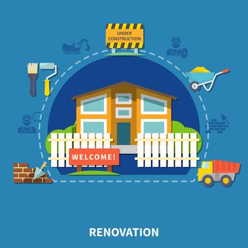 Conceito de Renovação de Casas vetor