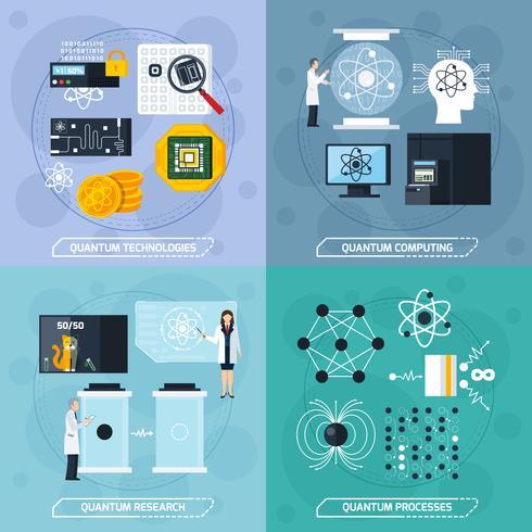 Conceito de design de processos quânticos 2x2 vetor