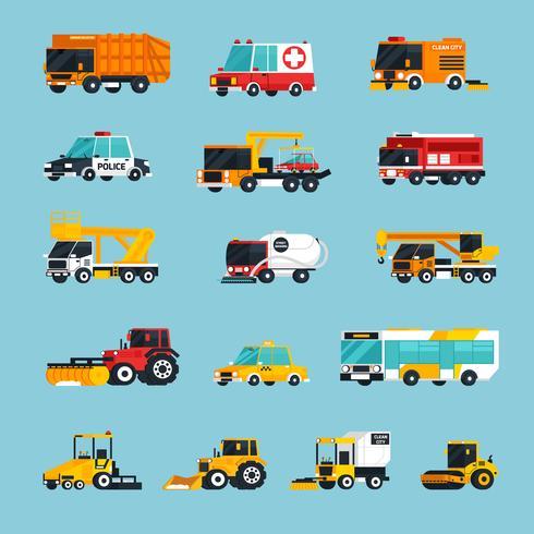 Infografia de transporte especial e de emergência vetor