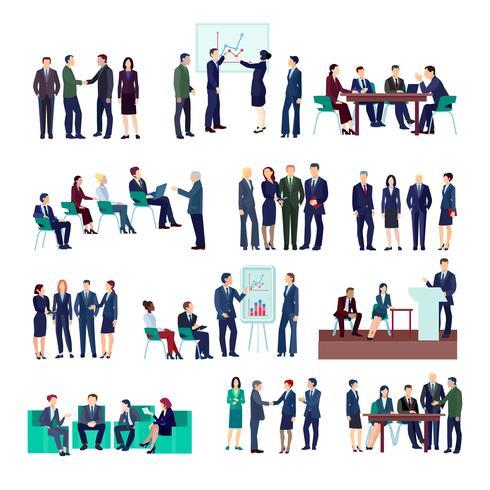 Colecção de grupos de pessoas de negócios vetor