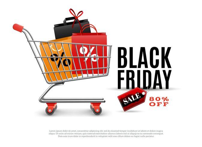 Cartaz de venda de sexta-feira negra vetor
