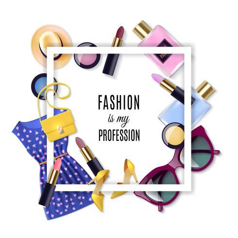 Conjunto de conceito de moda vetor