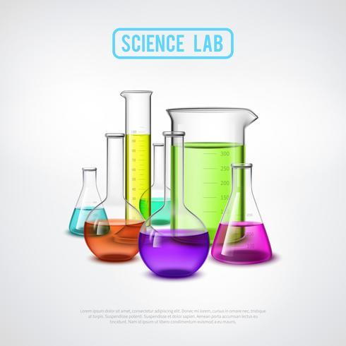 sceince composição de laboratório vetor