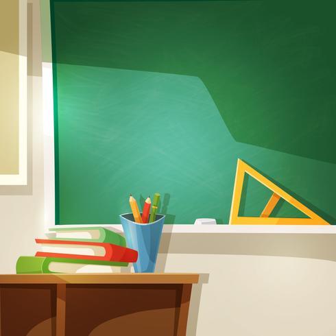 Ilustração dos desenhos animados de sala de aula vetor