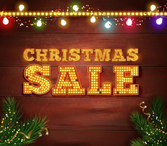 Modelo de venda de Natal vetor