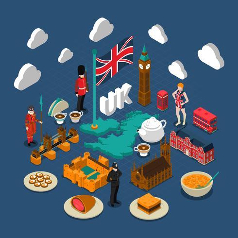 Composição do conceito de Grã-Bretanha vetor