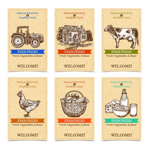 Banners de Tags de Fazenda vetor