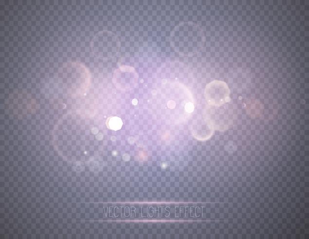 Resumo luzes brilhantes de bokeh. vetor