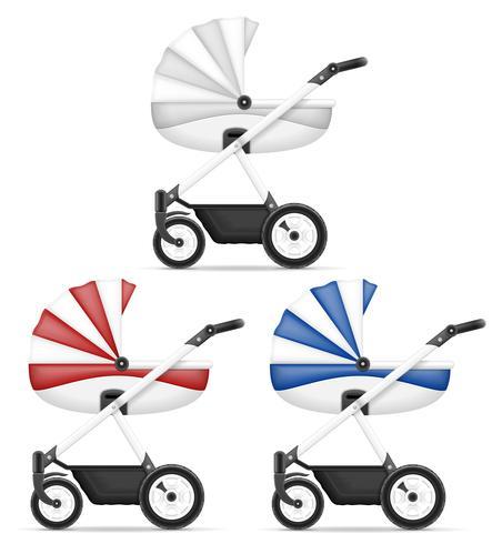 ilustração de estoque vetorial de carrinho de bebê vetor