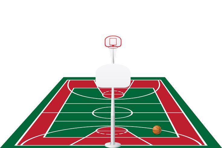 ilustração do vetor de quadra de basquete