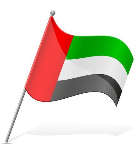 Bandeira dos Emirados Árabes Unidos vetor