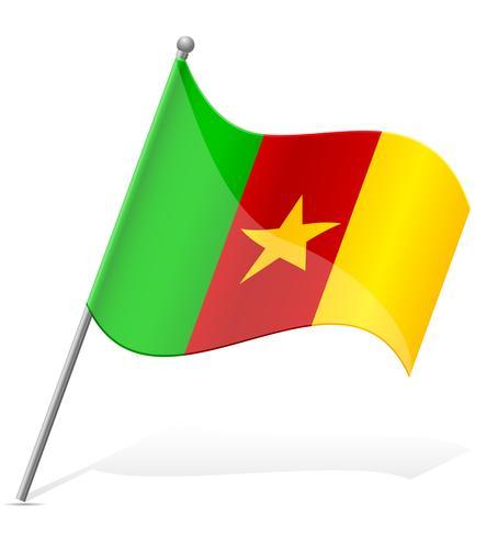 Bandeira da ilustração vetorial de Camarões vetor
