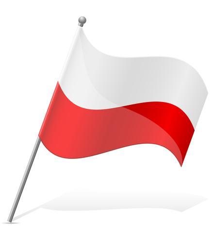 bandeira da ilustração vetorial de Polónia vetor