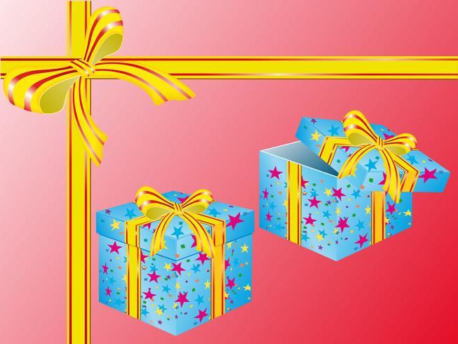 duas caixas para presentes vetor