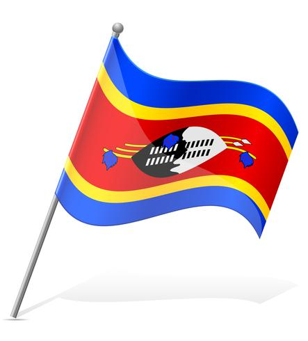 bandeira da ilustração vetorial de Suazilândia vetor