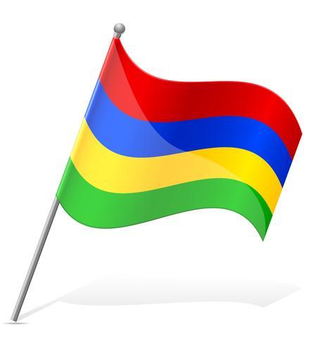 bandeira da ilustração vetorial de Maurícia vetor