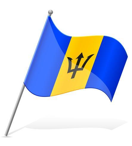 bandeira de ilustração vetorial de Barbados vetor