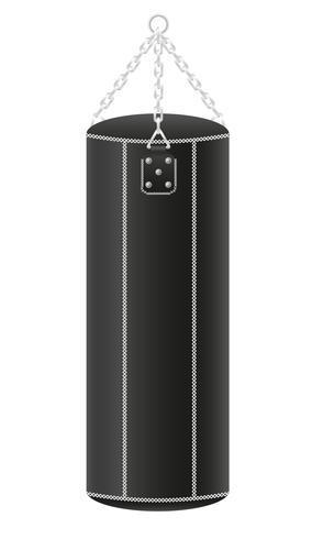 saco de pancada para ilustração vetorial de boxe vetor
