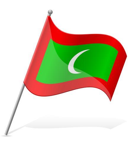 bandeira de ilustração vetorial de Maldivas vetor