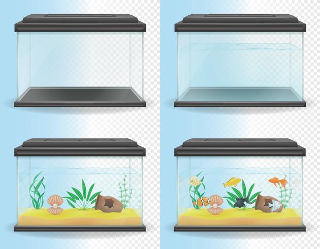 ilustração vetorial de aquário transparente vetor