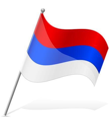 bandeira da ilustração vetorial de Sérvia vetor