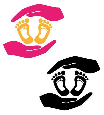 conceito de proteção e amor de ilustração em vetor bebê criança
